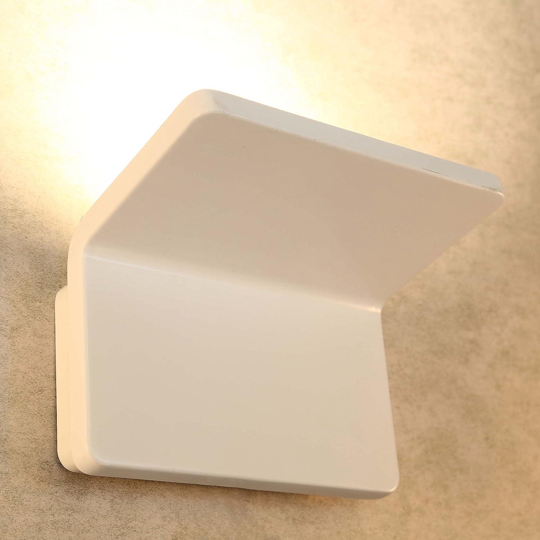 Glighone 20W LED Wandleuchte Innen Wandlampe Weiss Flurlampe Wand Innenleuchte Aluminium Warmwei