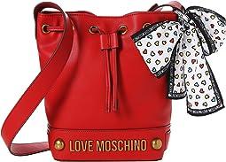LOVE Moschino Bucket Bag w/ Love Moschino Scarf