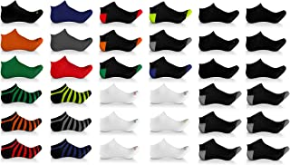 36 Pack Men's Ultimate Cushion Athletic Sport Performance Low Cut Ankle Socks For Running, Workout, Casual
