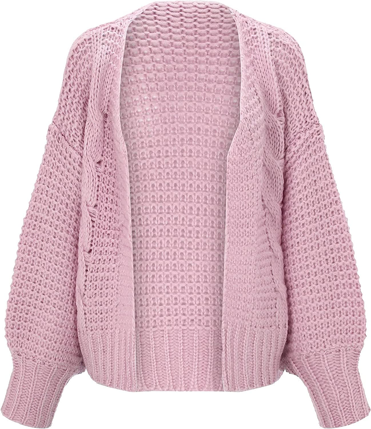 Misaky Ladies Knitted Slouchy Oversized Fashion Mohair Cardigan Sweater Casual Cardigan Warm Jacket