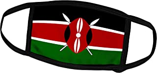 3dRose InspirationzStore Flags - Flag of Kenya - Kenyan Black red Green with Maasai African Warrior Shield Spears - East A...
