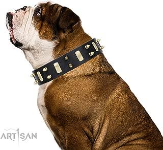 Robusto Cuero de Toro Feplast 75138958 Collar para Perros Galgos VIP Cw20//39 A: 32 x 39 Cm B: 20 Mm Marr/ón Suave Acolchado