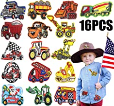 Iron on Baby Patches/Kids Truck Car Embroidered Patches-DIY Sew on Cartoon Construction Iron on Boy Girl Clothing Patches/Jackets, Jeans,Backpack,Schoolbag Patch