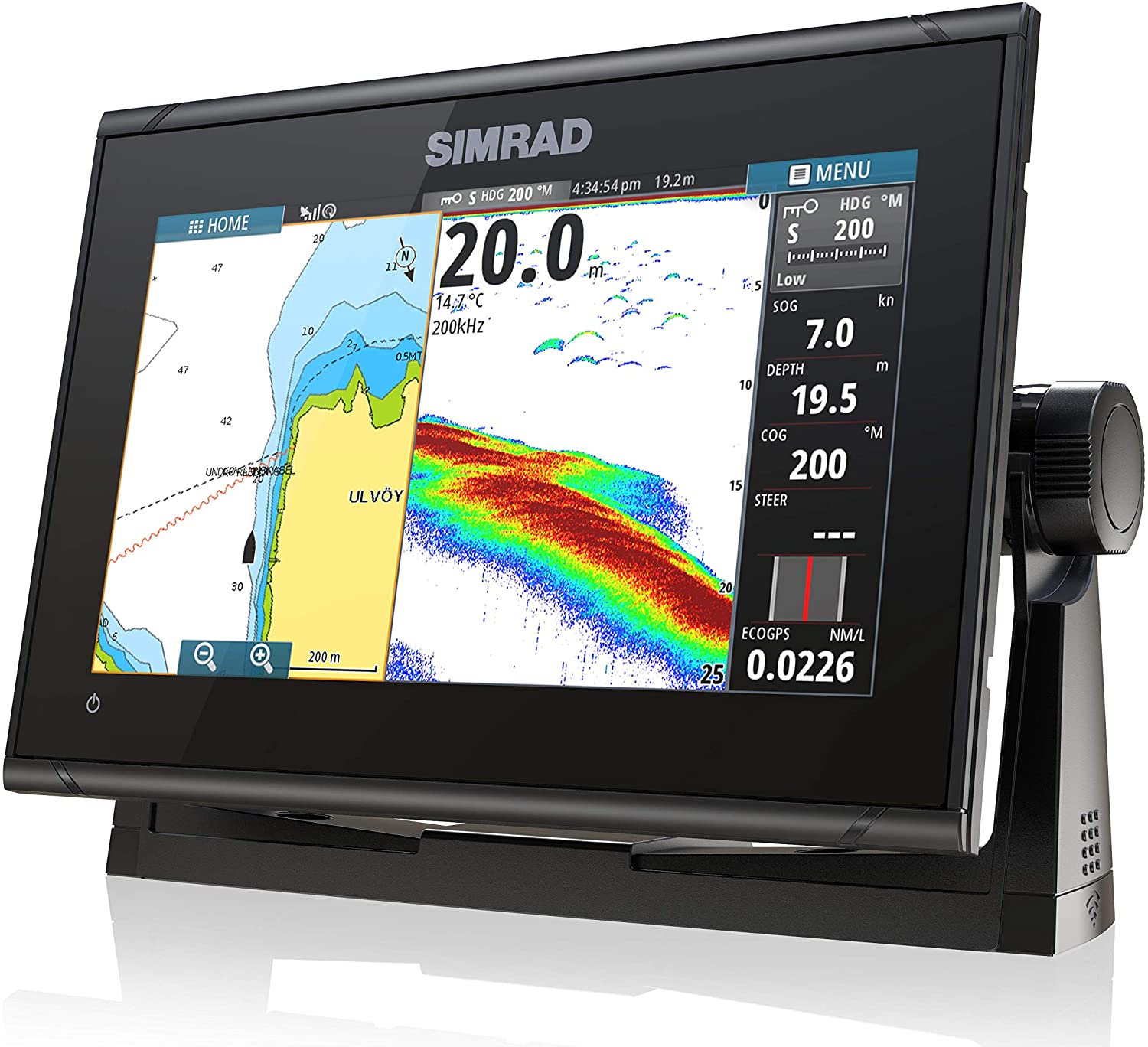 Simrad GO9 XSE - 9-inch Chartplotter with HDI Transducer, C-MAP Discover Chart Card