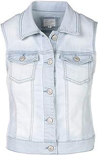 SHOP DORDOR Women's Classic Sleeveless Slim Fit Cropped Denim Jacket Vest
