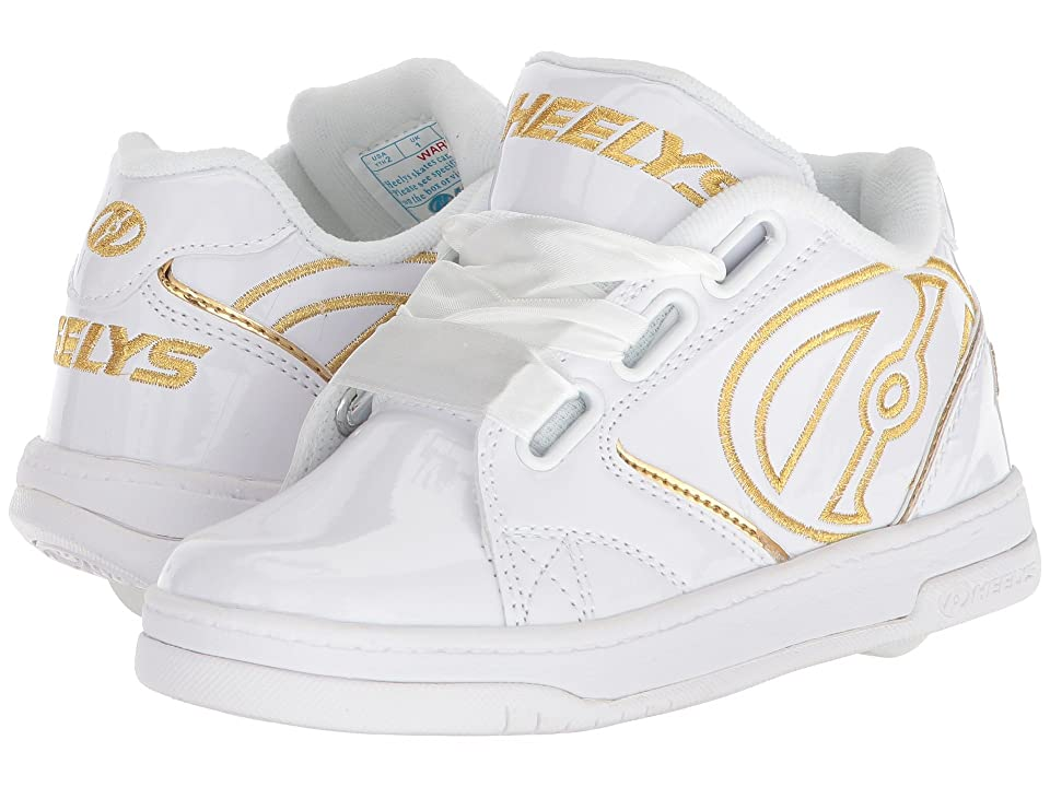 Heelys Propel 2.0 (Little Kid/Big Kid/Adult) (White/Gold Satin) Kids Shoes