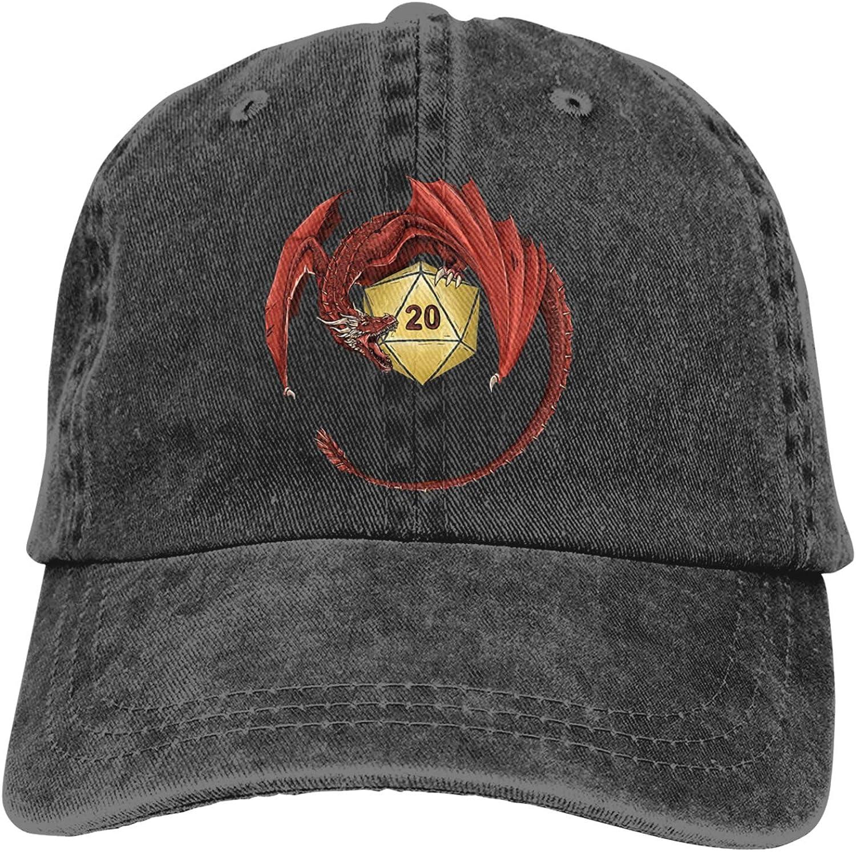 Dun-geons and Dragons Baseball Cap Vintage Washed Soft Cotton Adjustable Unisex Dad Hat