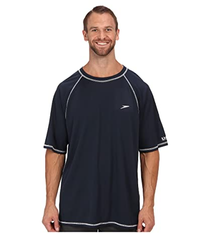 Speedo Easy S/S Swim Tee (Big) (Navy) Men