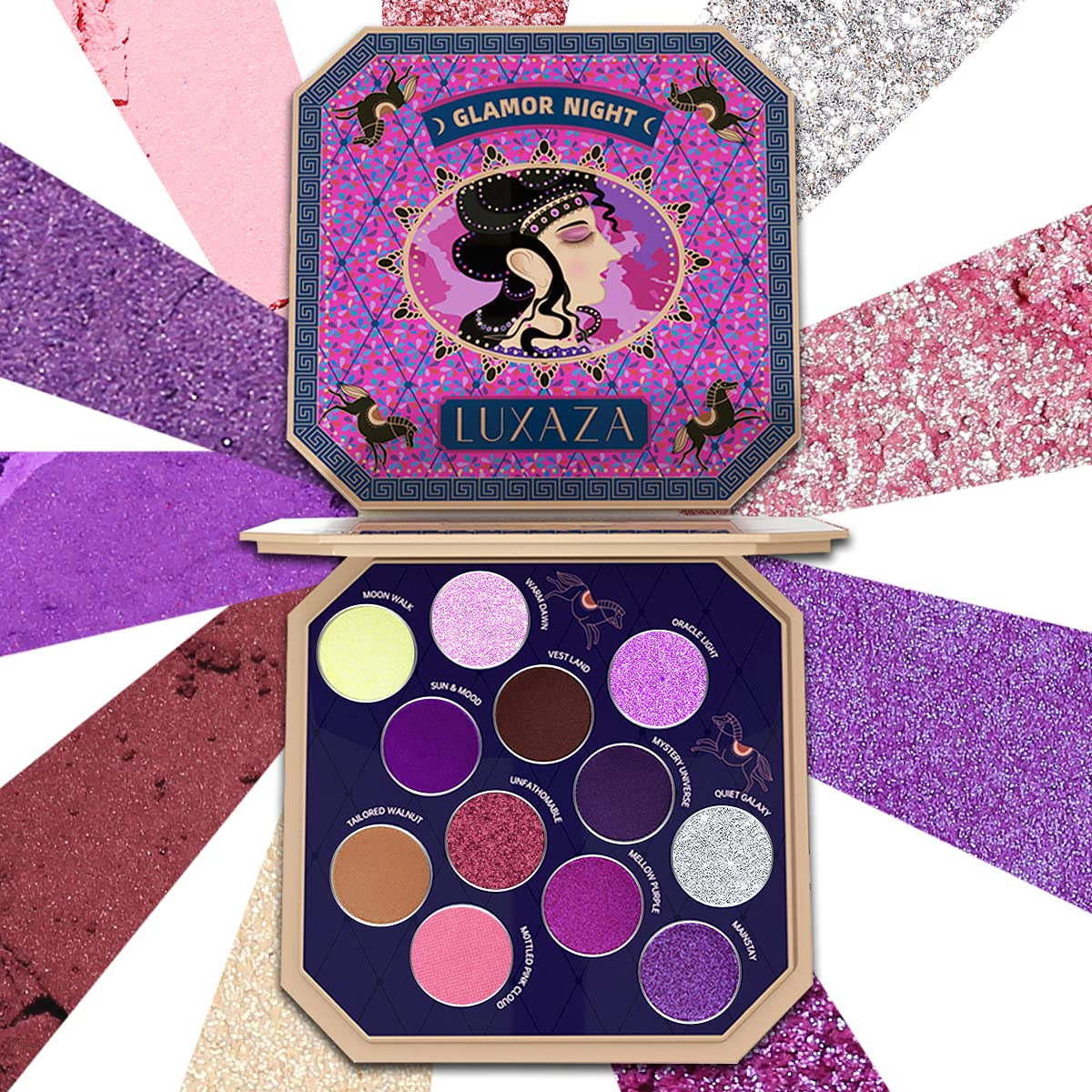 Large-scale sale LUXAZA Purple Eyeshadow Palette 12 Shimmer Glit Matte Colors At the price of surprise
