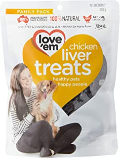 Love 'Em Chicken Liver Treats 200g, Small/Medium/Large, Puppy/Adult