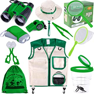 GINMIC Kids Explorer Kit & Bug Catching Kit, 11 Pcs Outdoor Exploration Kit for Kids Camping with Binoculars, Adventure, H...