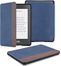 OMOTON Kindle Paperwhite Case (10th Generation-2018), Smart Shell Cover with Auto Sleep Wake Feature for Kindle Paperwhite 10th, Denim Blue