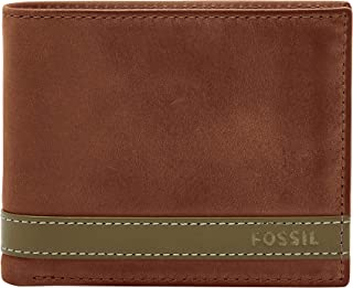 Fossil Men's Quinn Leather Large Coin Pocket Bifold Wallet