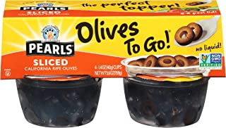 Pearls Olives To Go! 1.4 oz. Sliced Ripe Black Olives, 24-Cups