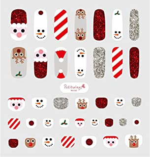 [Petitwings] x37pcs Premium Kid Nail Wraps Decals Stickers with File (Made in Korea) (Happy X-mas)