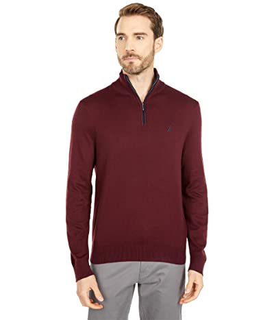 Nautica Navtech 1/4 Zip Sweater (Royal Burgundy) Men