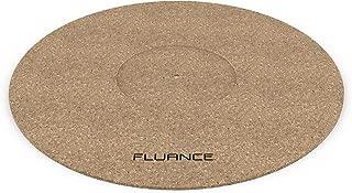 Fluance Turntable Cork Platter Mat - Audiophile Grade Improves Sound & Performance for Vinyl Record Players (TA21)