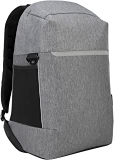 Targus TSB938GL CityLite Security Backpack best for work, commute or university, fits laptop up to 15.6-Inch, Grey