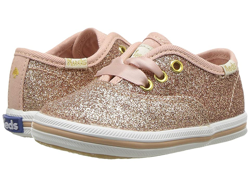 Keds x kate spade new york Kids Champion Glitter Crib (Infant/Toddler) (Rose Gold) Girl