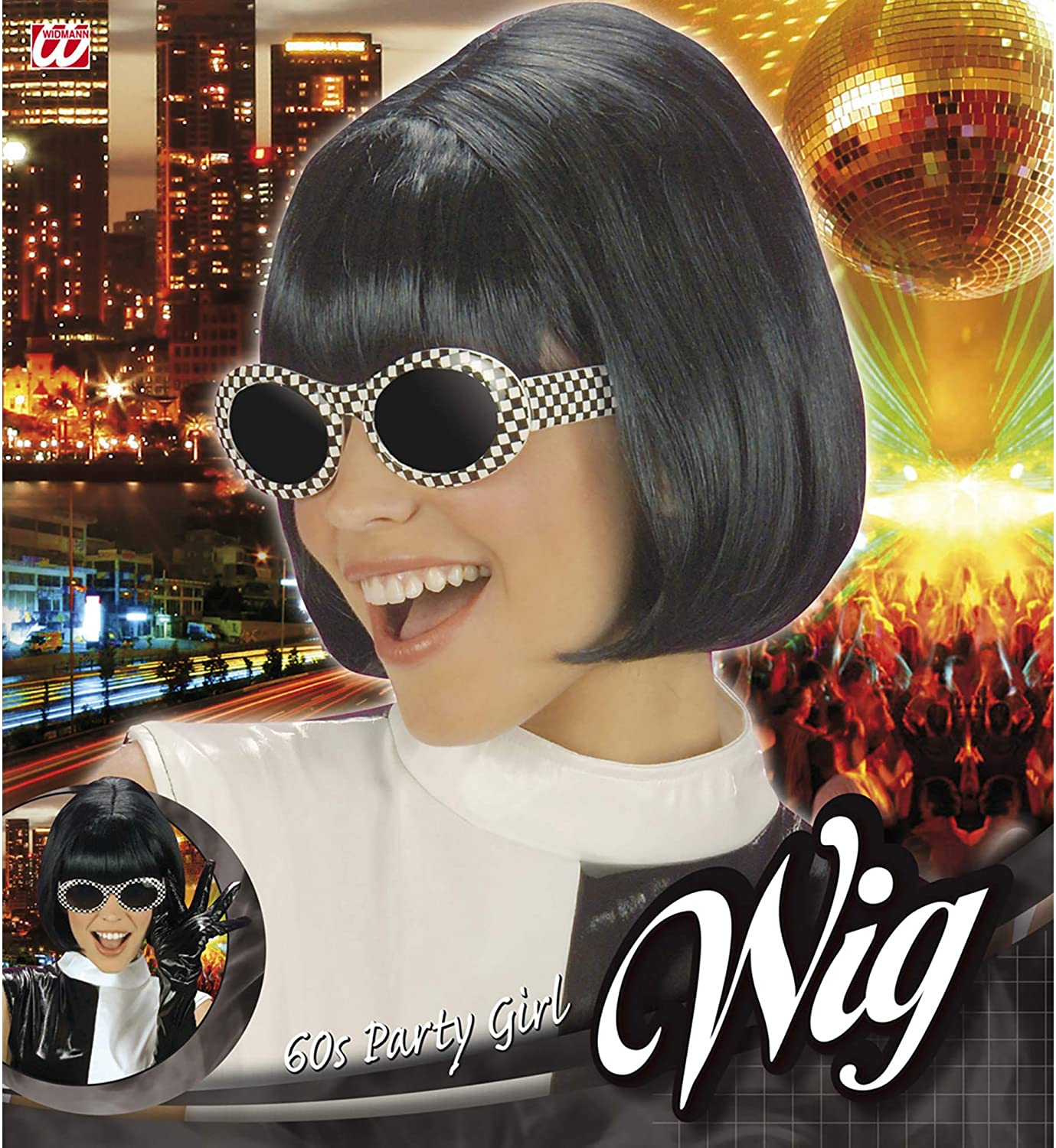 Ladies 60s Party Girl Wig for Hair Accessory Fancy Dress