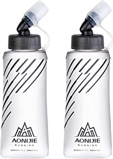 TRIWONDER TPU Soft Flasks Collapsible Water Bottles Running Flasks for Hydration Pack Backpack Hiking Cycling (250ml/8.45o...