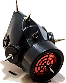 Spiked Cybergoth Respirator -Single Light Up Cartridge 6 Spikes Style 2