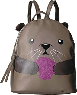 Otter Hugging Shell Backpack