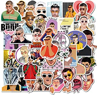 Pop Singer Bad Bunny Stickers 50Pcs Variety Vinyl Waterproof Car Sticker Motorcycle Bicycle Luggage Decal Graffiti Patches...