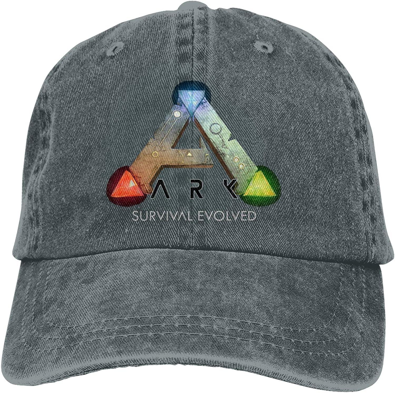 VANMASS Unisex Washed Denim Baseball Caps ARK Survival Evolved Logo Trucker Hat Adjustable Snapback