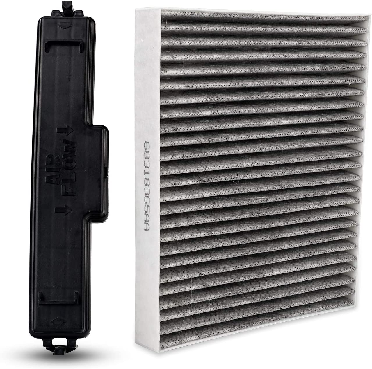 Buy 3mirrors Carbon Cabin Air Filter Ac Filter Access Door Cover Compatible With 2016 2020 Dodge Ram 1500 2500 3500 2007 2012 Mazda Cx 7 Online In Indonesia B08ryhfkny