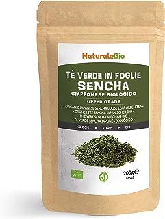 Té verde Sencha Japonés Orgánico [ Upper grade ] de 200g. 100% Bio, Natural y Puro, Té verde en hojas de la primera cosecha, cultivado en Japón. Organic Japanese Sencha Green Tea. NaturaleBio