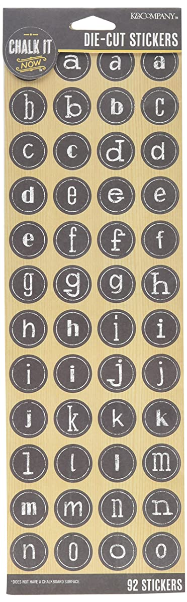 Chalk It Now Die-Cut Stickers-Lowercase Alpha (30-691667)
