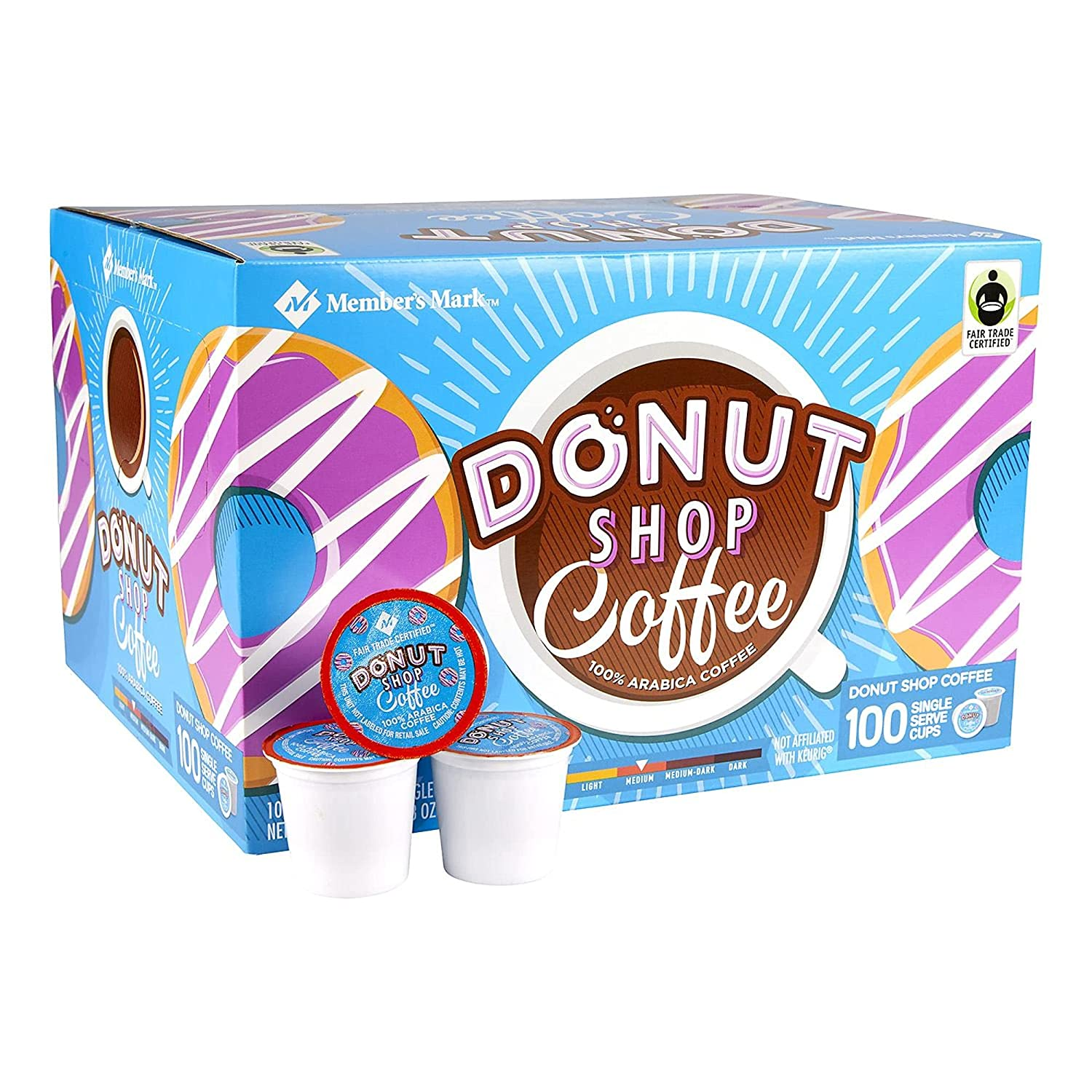 Member shopping S Mark Donut Shop New arrival Coffee Cups Whol Ct. Single 100 Serve
