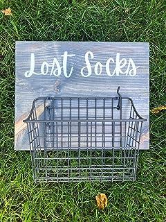 by Unbranded Panneau en bois « Lost Socks Clean & Single Basket » pour panier de buanderie