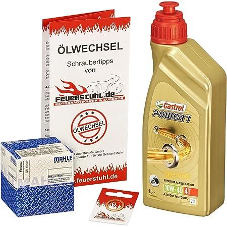 Castrol 10w 40 Öl Mahle Ölfilter Für Bmw K 1200 Gt 03 04 K12 K41 Ölwechselset Inkl Motoröl Filter Dichtring Auto