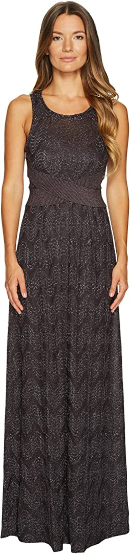 M Missoni - Lurex Jersey Maxi Dress w/ Cross Front