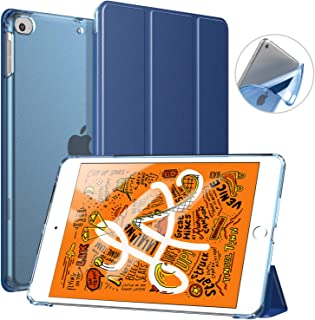 TiMOVO Cover Compatible for New iPad Mini 5th Generation 2019 Case, Slim Soft TPU Translucent Frosted Back Protector Cover Shell with Auto Wake/Sleep, Smart Cover Fit iPad Mini 5 2019, Indigo