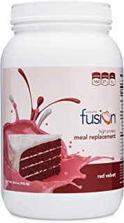 Bariatric Fusion Meal Replacement Protein 21 Serving Tub Red Velvet for Bariatric Surgery Patients Including Gastric Bypass & Sleeve Gastrectomy