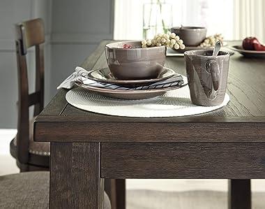 Signature Design by Ashley Drewing Modern Farmhouse Bar Height Dining Table, Dark Brown