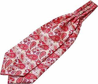 Enlision uomini cravattino ascot tessuti broccato floreale paisley & fazzoletto set