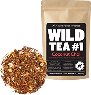 Coconut Chai, Rooibos Loose Leaf Tea Blend, 100% Naturally Grown Ingredients - Wild Tea #1 Herbal Chai Tea (8 ounce)