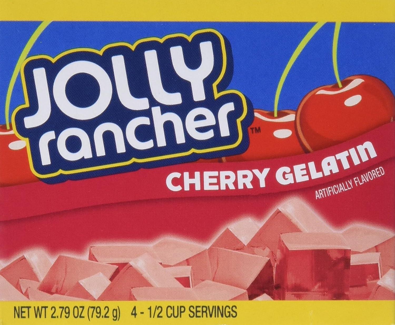 JOLLY Popular RANCHER Cherry Gelatin Jello oz Max 83% OFF Pack 4 of 2.79
