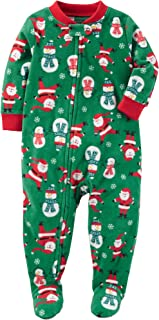 Carter's Baby Boys' 12M-24M One Piece Santa Print Fleece Pajamas 12 Months