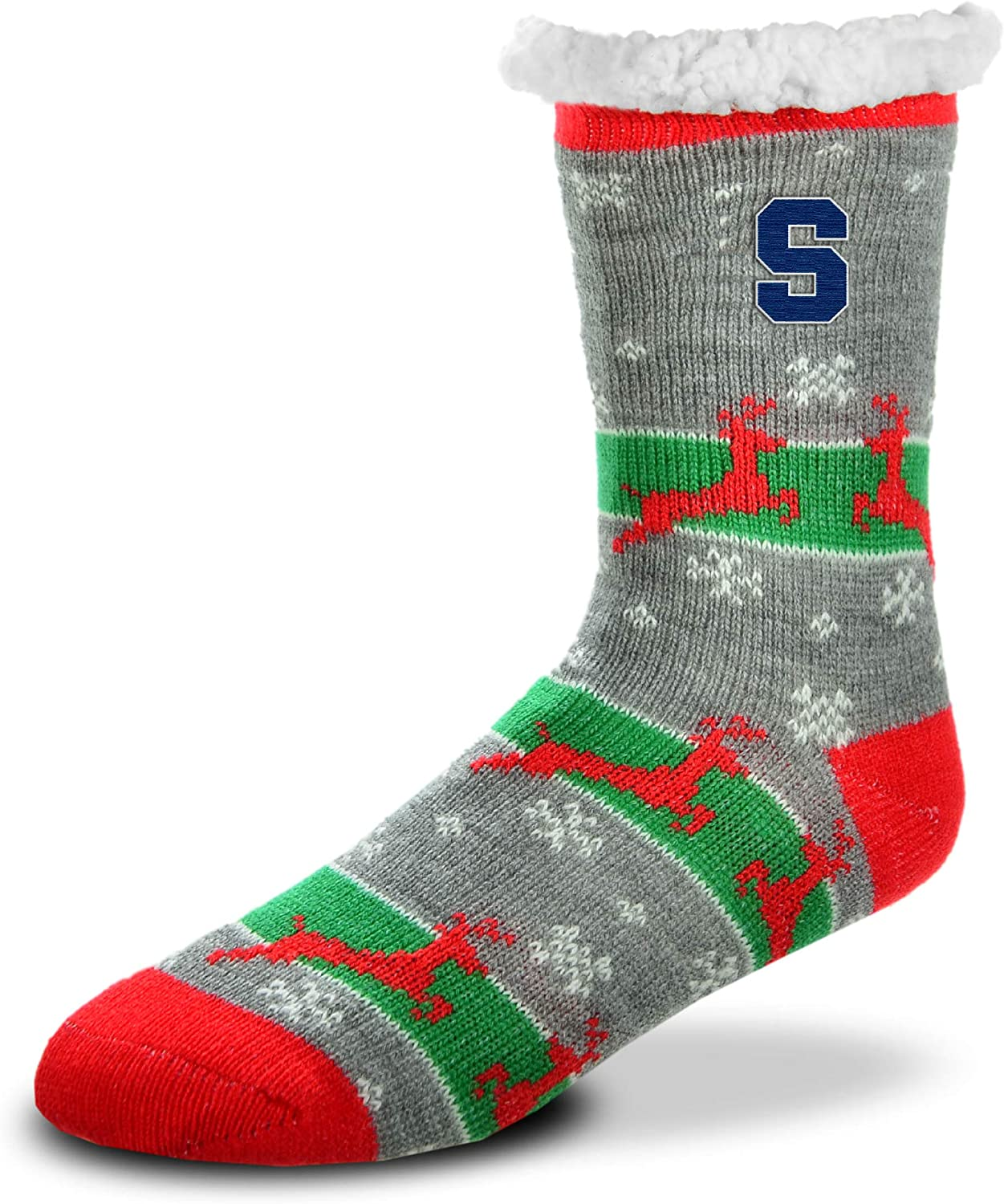 For Bare Feet NCAA Sherpa Slipper Socks One Size Fits Most