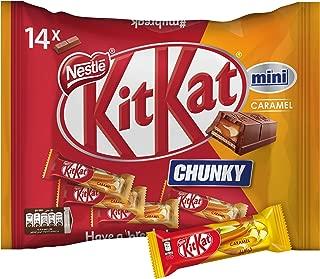 Nestle Kitkat Chunky Mini Caramel Chocolate Bar, 250g (14 Minis)