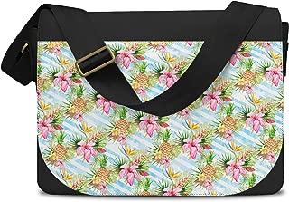 Aloha Pineapple Stripes Messenger Bag - One Size Messenger Bag