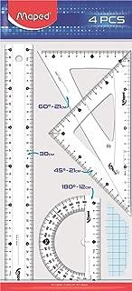 Maped Ofis Ve Kirtasiye 242830 4'lü Start Maxi Cetvel Seti, 30 cm