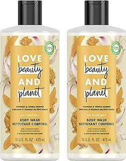 Love Beauty And Planet Body Wash Turmeric & Tonka Essence 16 oz 2 Count