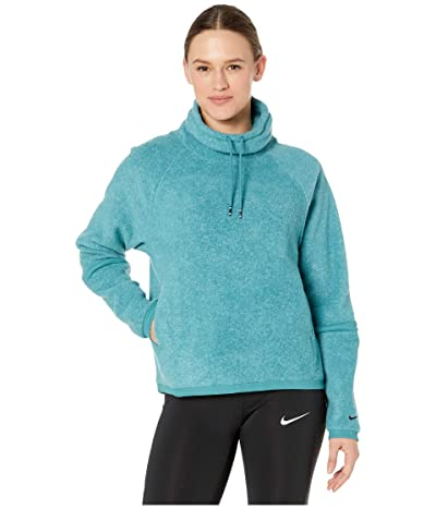 Nike Therma Fleece Cowl Cozy (Mineral Teal/Heather/Mineral Teal/Black) Women