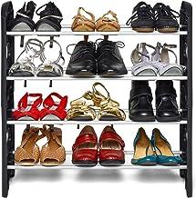 Ebee Foldable Shoe Rack (Black)